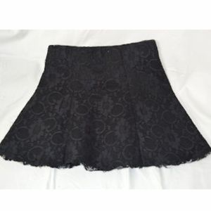 Cute Forever 21 Lace Black Skirt Size: S